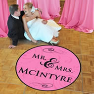 wedding dance floor decal