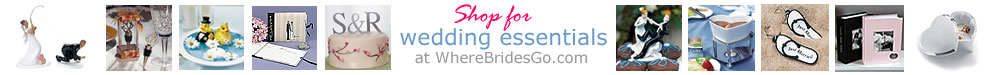 Order wedding favors and supplies from WhereBridesGo.com!  Click Here